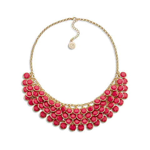 Cheap Pink Crystal Statement Necklace | 7 Charming Sisters