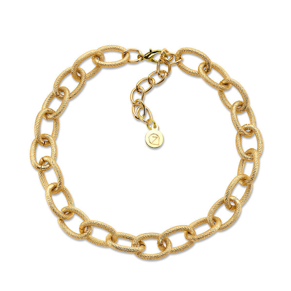 gold chainlink necklace