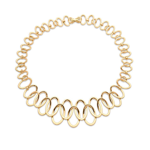 Gold Link Collar Necklace