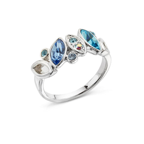 Blue and Silver Ring