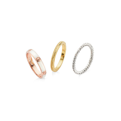 Vintage stacking rings