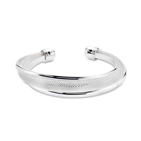 Cheap Sterling Silver Mesh Bangle Bracelet | 7 Charming Sisters