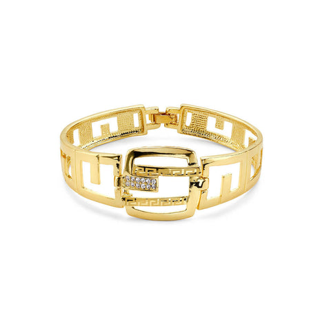 Gold cutout bangle bracelet