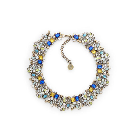 Best Blue Crystal Bib Statement Necklace for Women | 7 Charming Sisters
