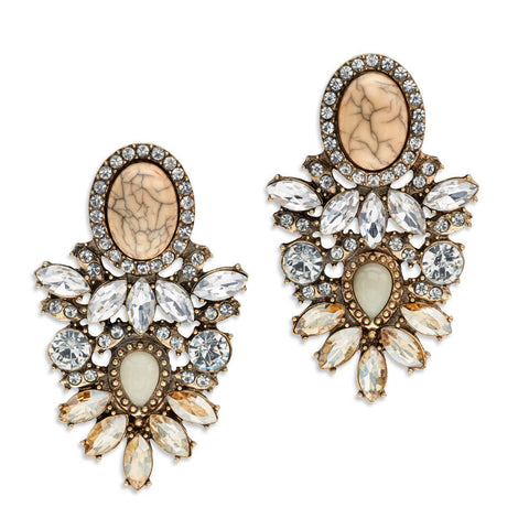 Cheap Champagne Crystal Chandelier Earrings | 7 Charming Sisters