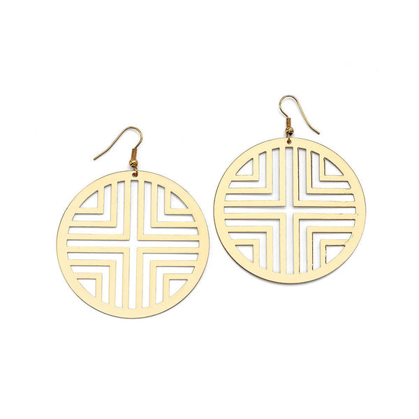 Cheap Gold Geometric Drop Earrings | 7 Charming Sisters
