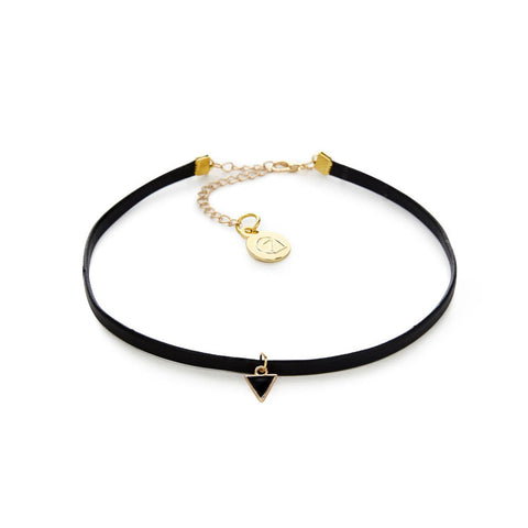 Cheap Vintage Black Leather Choker Necklace | 7 Charming Sisters