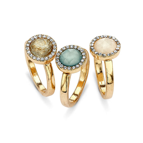 Best Colorful 14k Gold-Plated Crystal Stackable Rings | 7 Charming Sisters