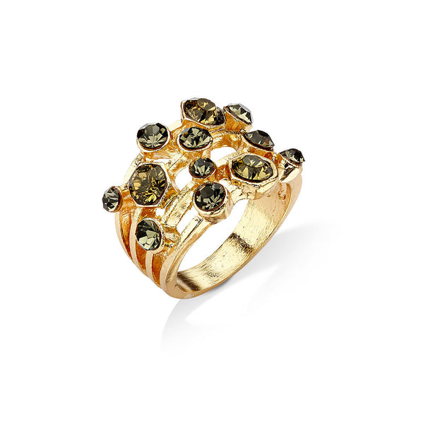 Cheap Gold Stackable Ring with Diamonds | 7 Charming Sisters