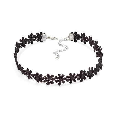 Black Lace Flower Choker Necklace | 7 Charming Sisters