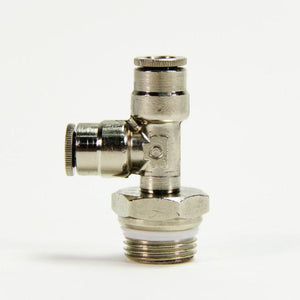 "Run Swivel Tee - 3/8"" Threaded Male x 1/4 PTC - SKU: 10140"