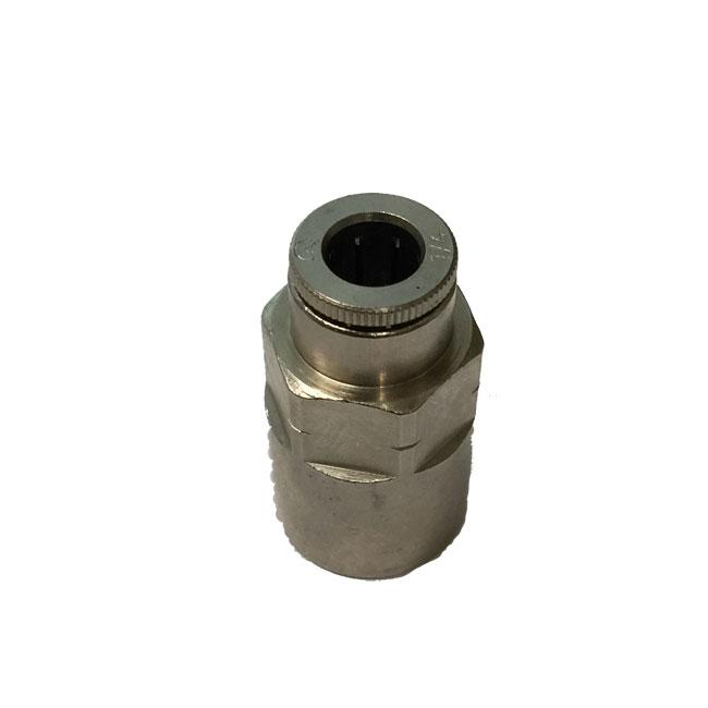 "STRAIGHT CONNECTOR - 1/4"" THREADED FEMALE X 1/4"" PTC 1"
