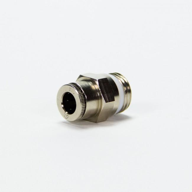 "Straight Connector - 1/4"" Threaded Male x 1/4""PTC- SKU: 10135 2"