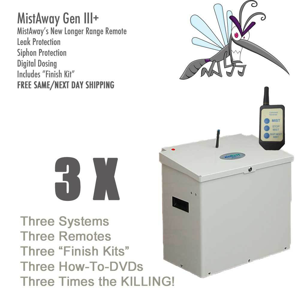 Wholesale MistAway Gen III+ Misting Unit - Three (3) Systems