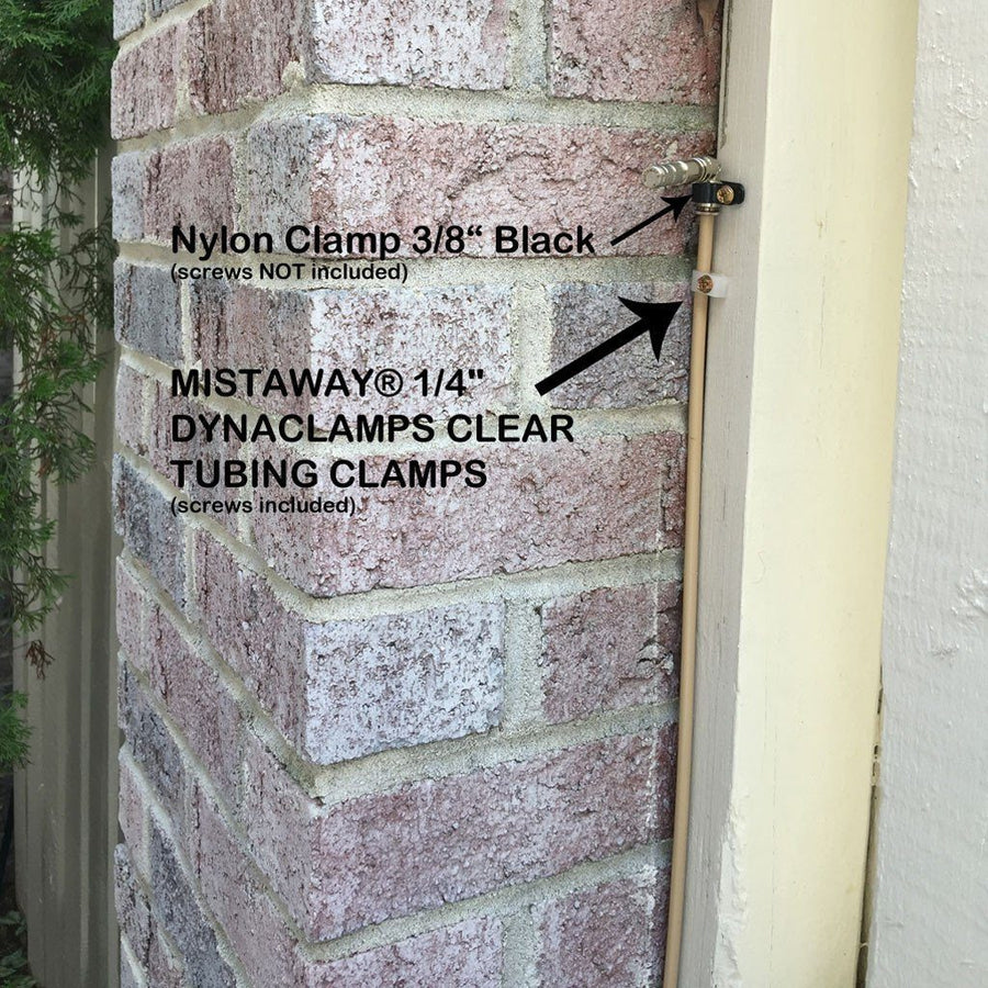 "MistAway® 1/4"" Dynaclamps CLEAR Tubing Clamps-Automatic Mosquito Control"