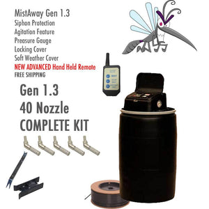 MistAway DIY Gen 1.3 Complete 40 Nozzle Kit-Automatic Mosquito Control