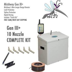 MistAway Gen 3 -10 Nozzle Complete Kit-Automatic Mosquito Control