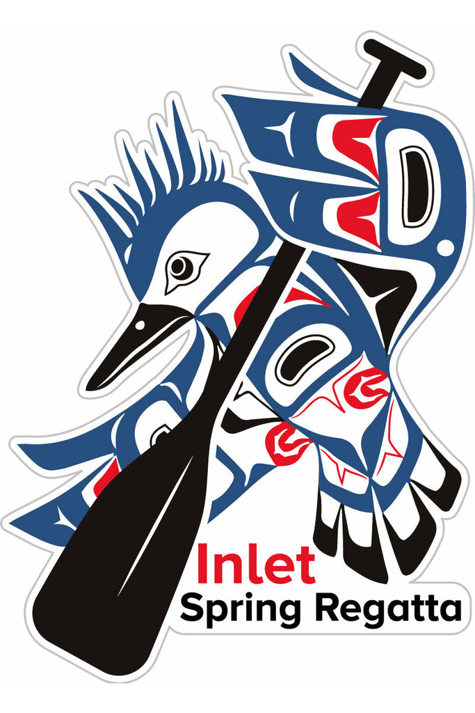 Inlet Spring Regatta Paddle Sticker- 5 Pack