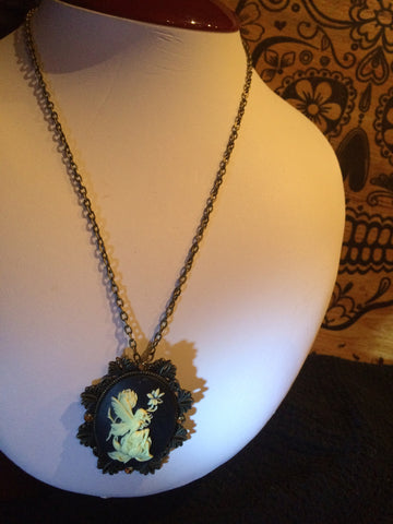 Cameo Fairy Necklace