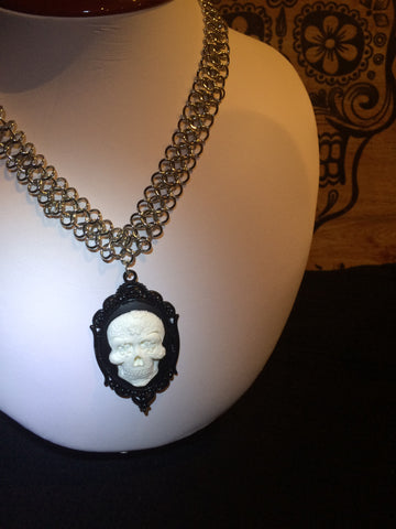Cameo Skull Necklace