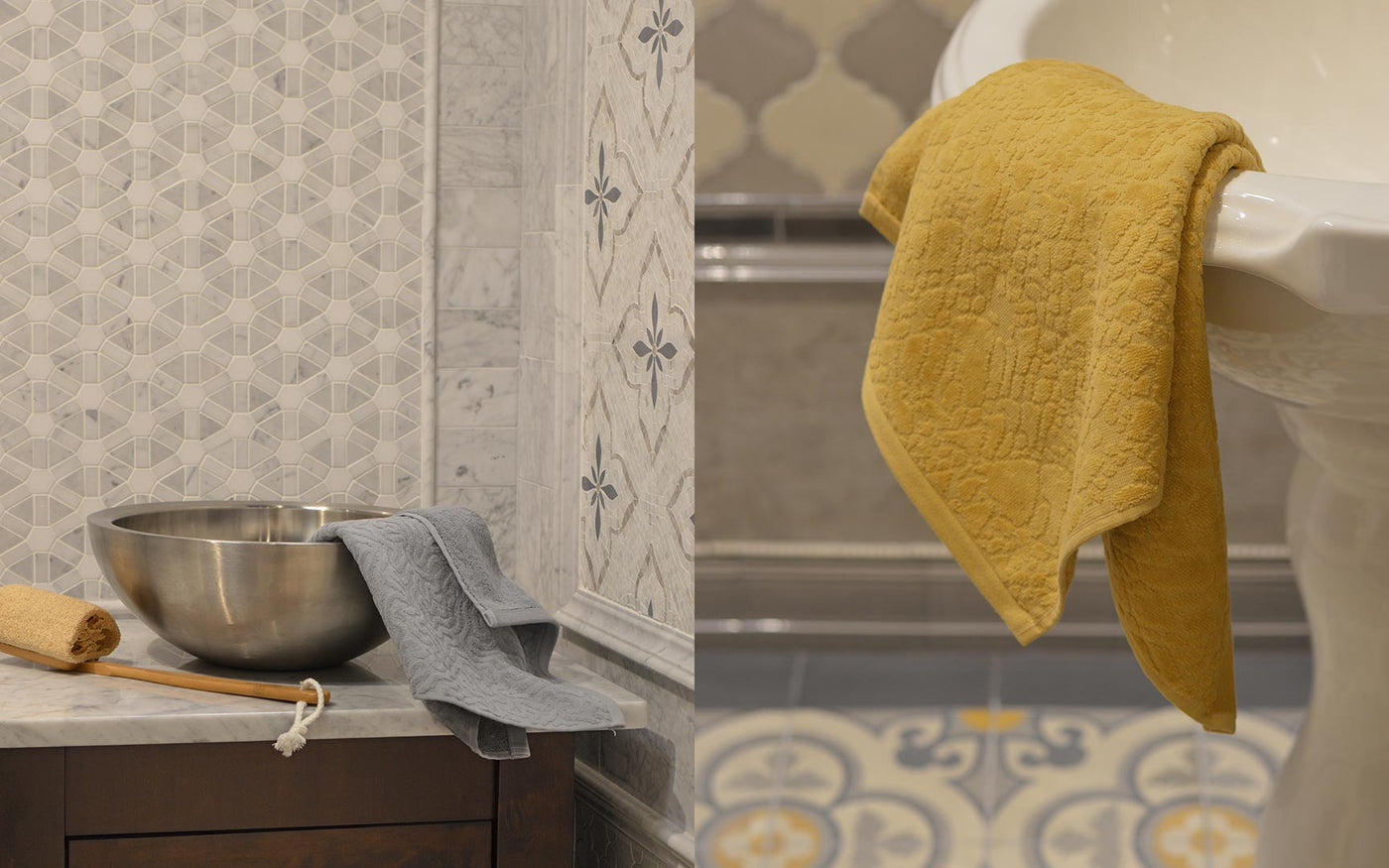 Affina organic cotton bath towels