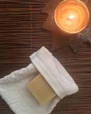 Spa Treatment with Affina Organic Spa Mitt and Organic Soap