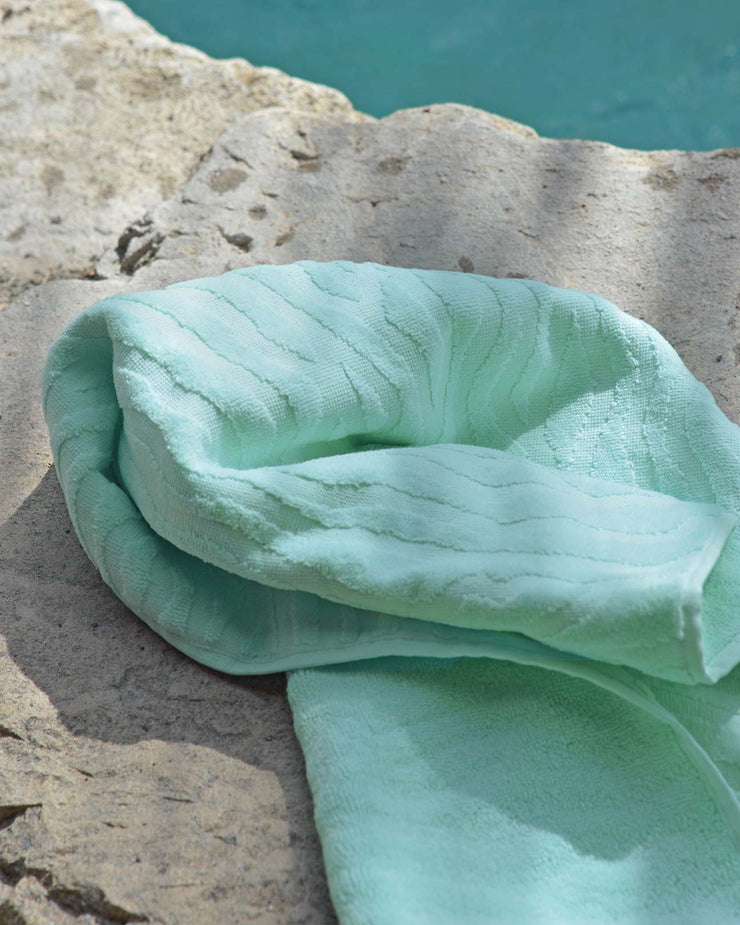 Affina Sand Ripple Organic Cotton Towels