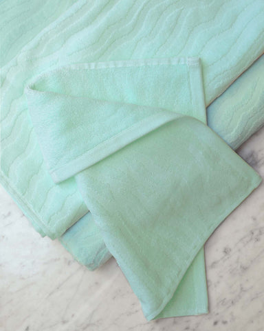 Sand Ripple Aqua Organic Cotton Towels