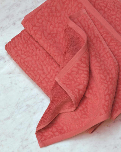 Affina Ventalina Organic Cotton Towels Coral