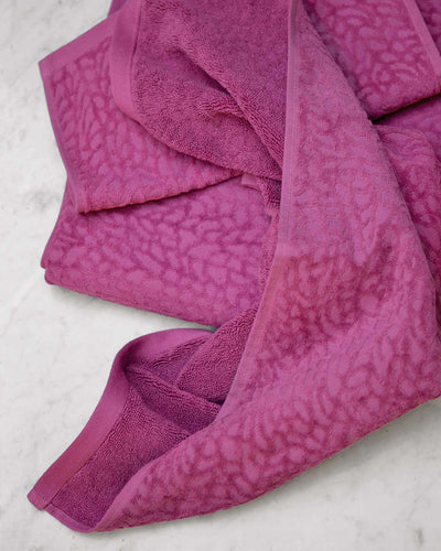 Affina Ventalina Organic Cotton Towels Plum