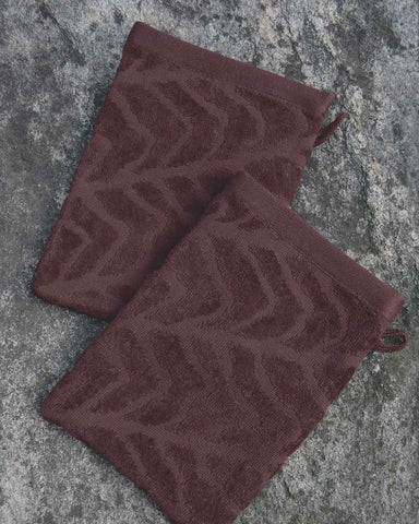 Bednalli Brown Organic Cotton Spa Mitt Set