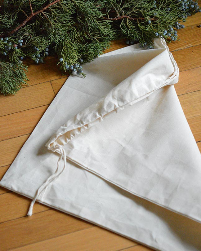 Organic Cotton Drawstring Gift Bag