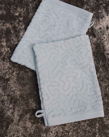 Strigosa Gray Organic Cotton Spa Mitt Set