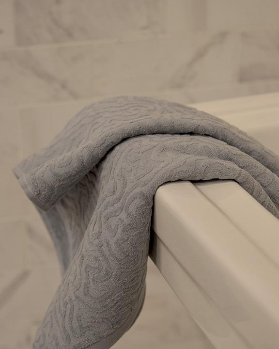 Affina Strigosa Gray Organic Cotton Towel