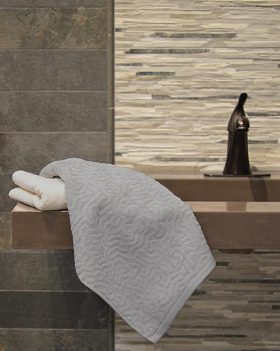 Affina Strigosa Gray Organic Cotton Towels