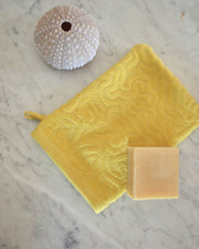 Strigosa Yellow Organic Cotton Spa Mitt Set
