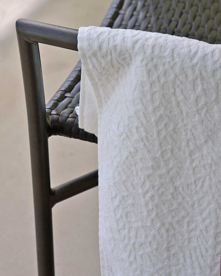 Affina Ventalina Organic Cotton Towels White
