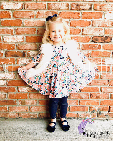 Be Amazing Twirly Dress in Floral