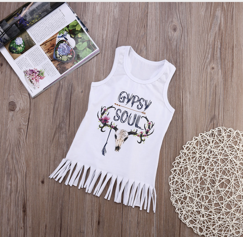 GYPSY SOUL FRINGE TOP CLEARANCE
