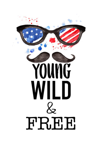 YOUNG WILD & FREE TEE (READ DESCRIPTION BEFORE PURCHASING)