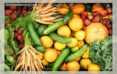 Fruits and veggies for alkaline salad