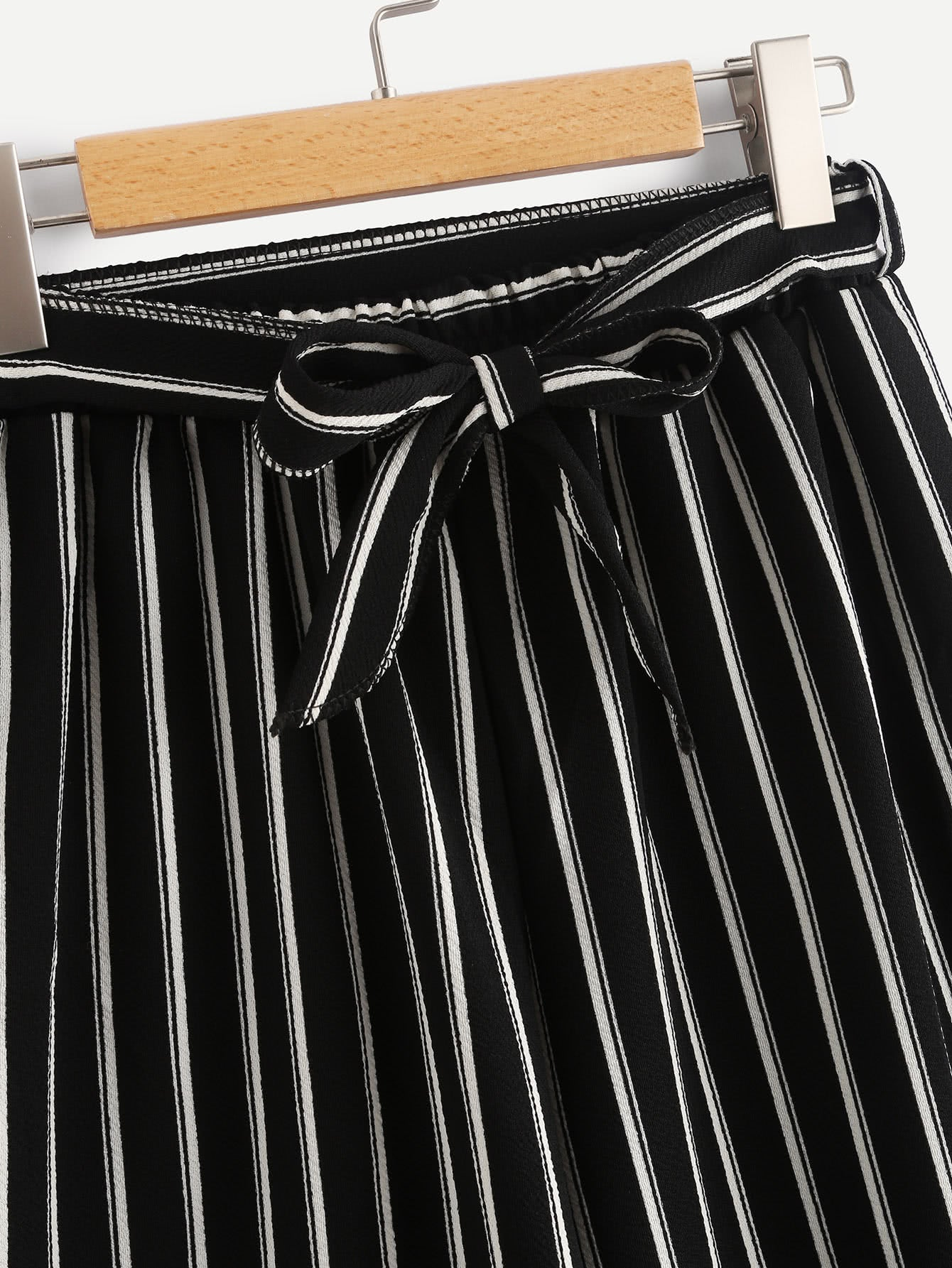Vertical Stripe Wide Leg Pants