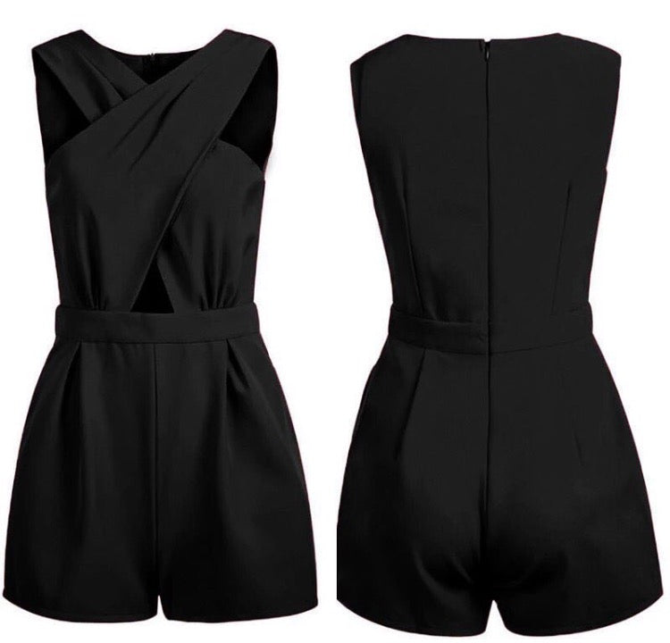 Keipy's cross jumpsuit romper o-neck
