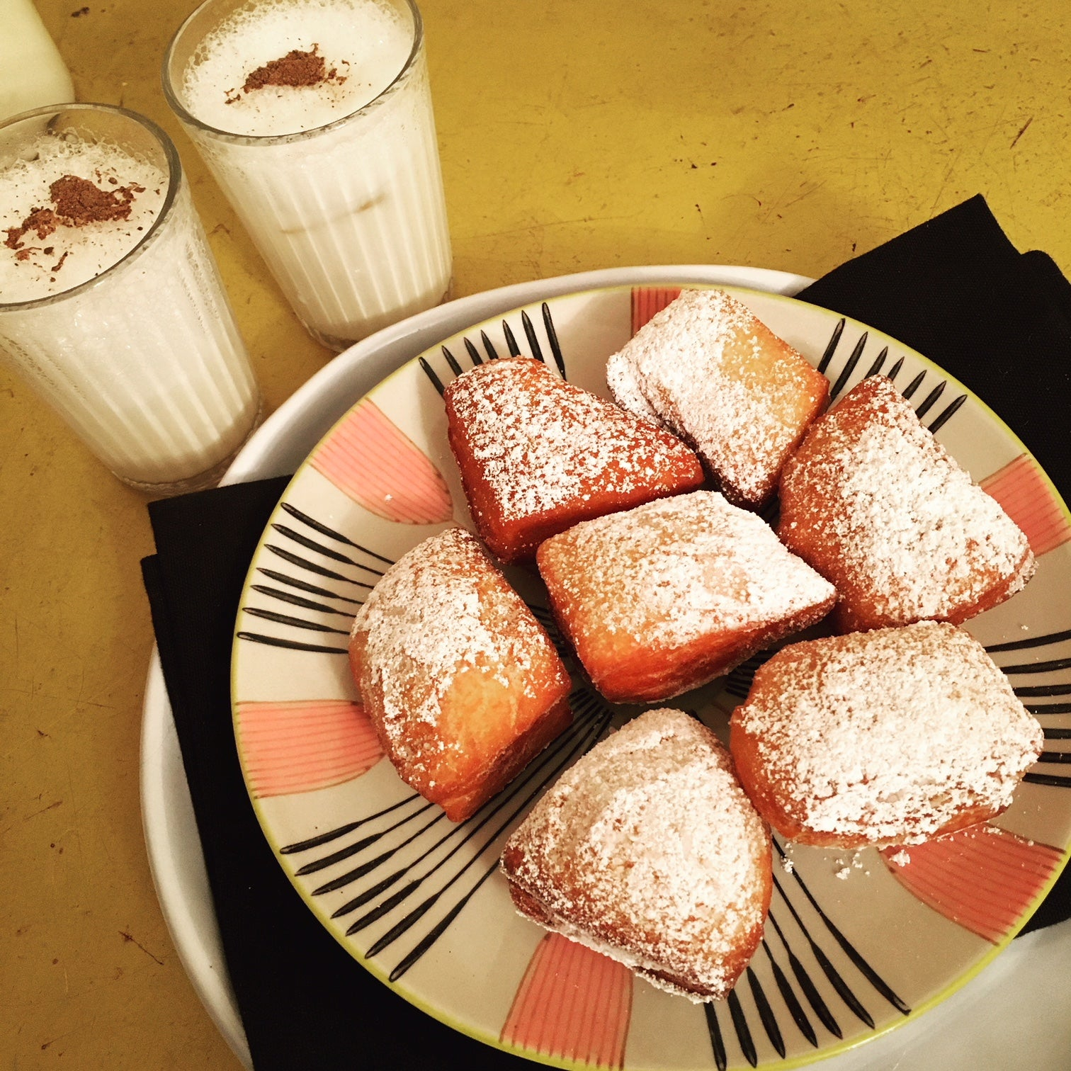 Mardi Gras Sourdough Beignets and Milk Punch