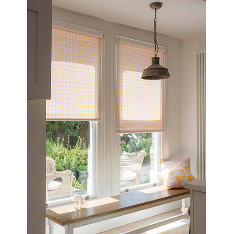 étoile home Dorothy fabric in Tea Rose made in to roller blinds cotton linen