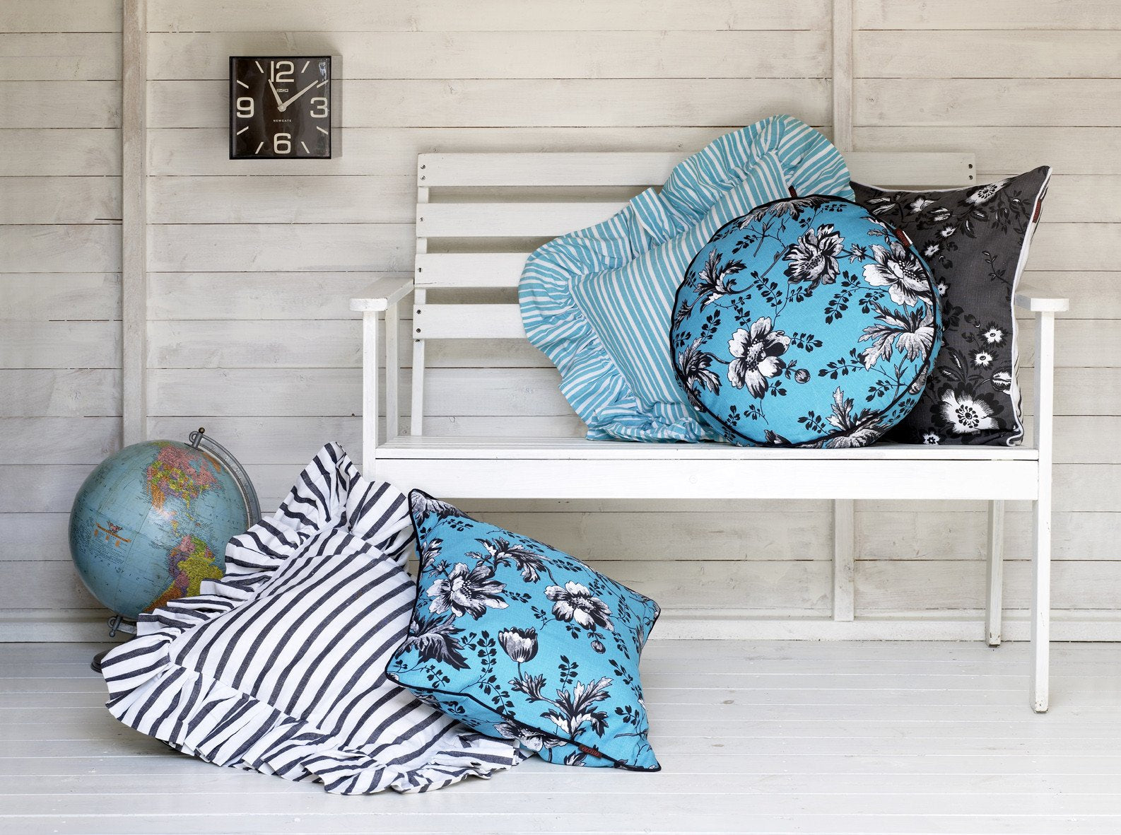 Stripe ruffle floral throw pillows stripe pattern canada and use