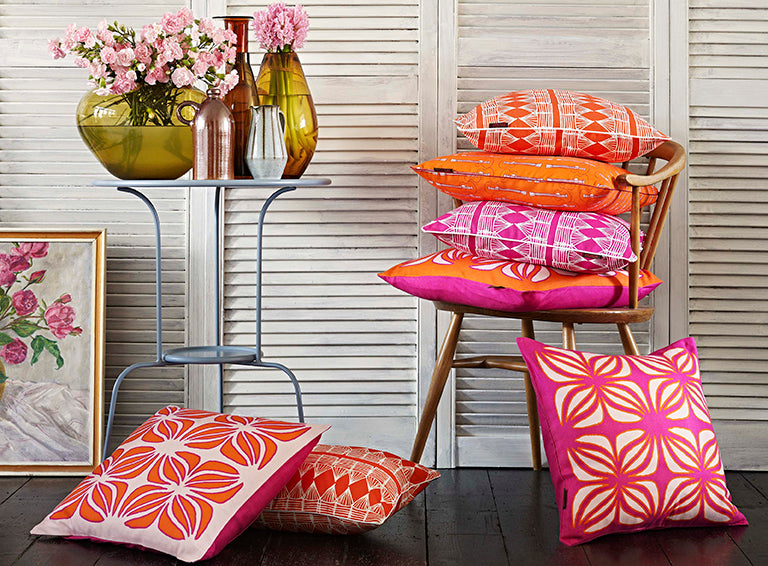 Find all your perfect home decor fabrics, throw pillows, table linens and more with our search by colour section at Main & Mersey online store ships worldwide form Canada including the USA
