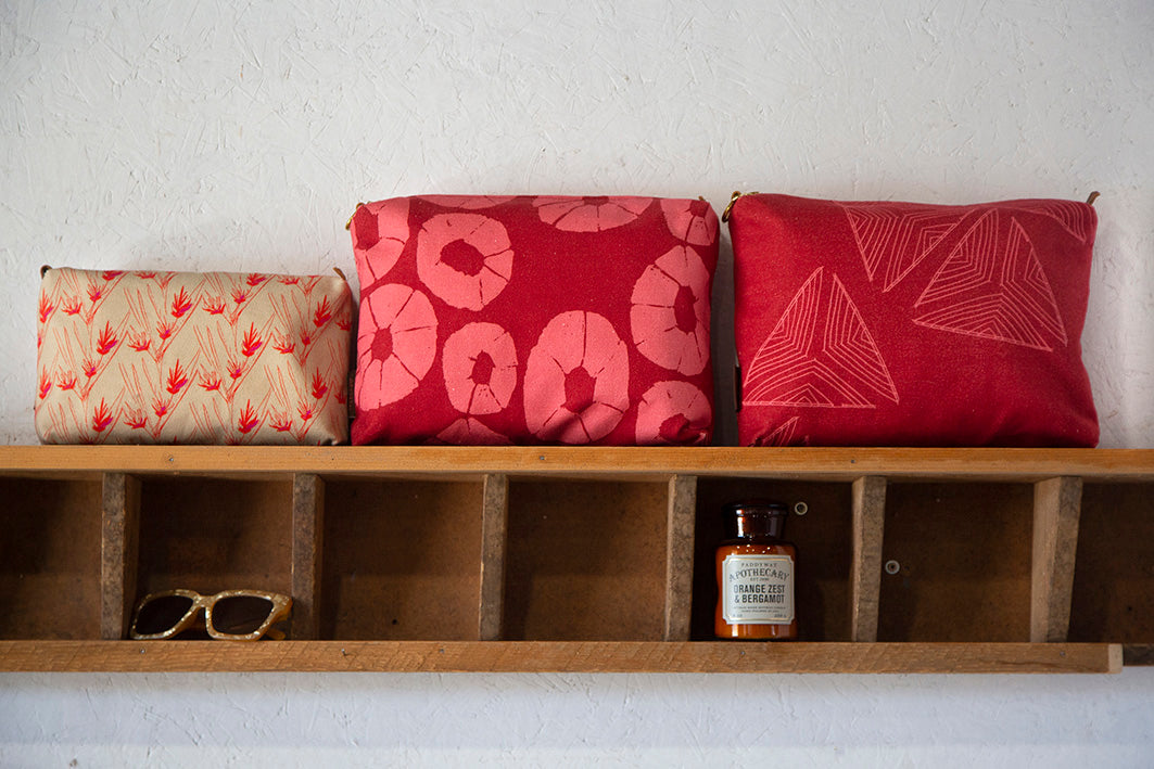 Red & Orange Toiletry, Vanity and Cosmetic Bags