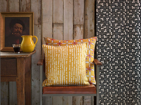 Hopi and Navajo Cushions in Gold
