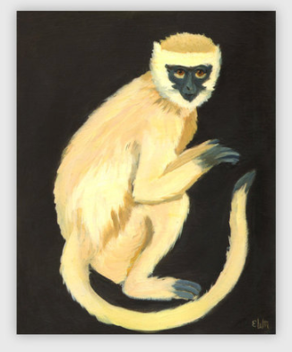 A Monkey Print Poster by Emily Winfield-Martin ships from Canada worldwide